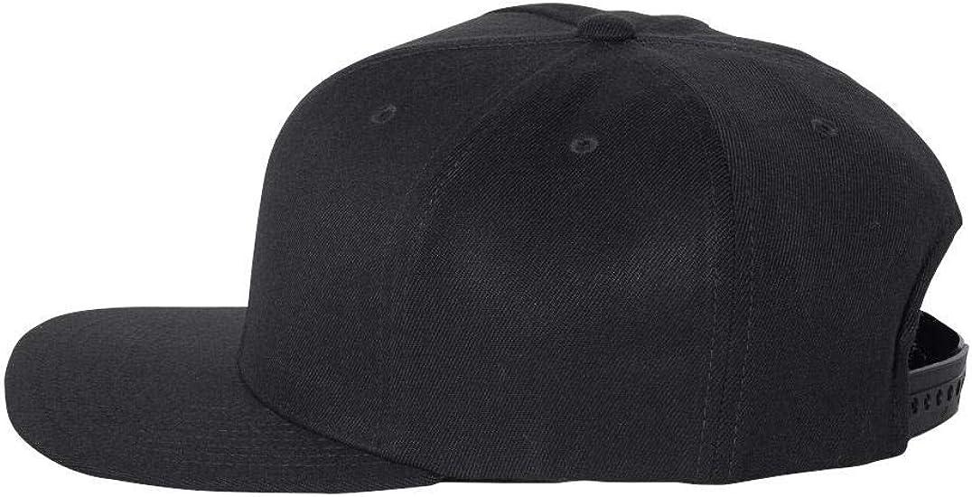 110F Flexfit One Ten Flat Bill Snapback Cap Structured Mens Hat Adjustable