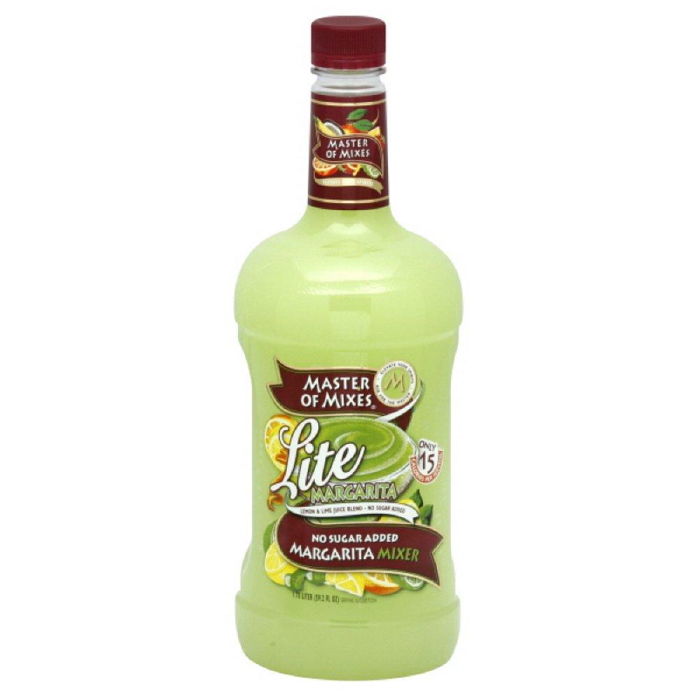 Master of Mixes Lite Margarita Mix, 1.75 Liter Bottles (Pack of 6)