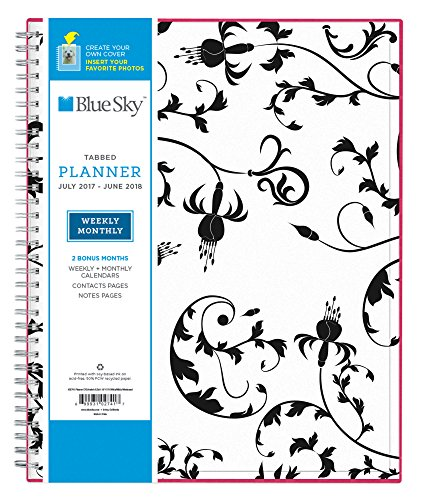 Blue Sky 2017-2018 Academic Year Weekly & Monthly Planner, Twin-Wire Bound, 8.5