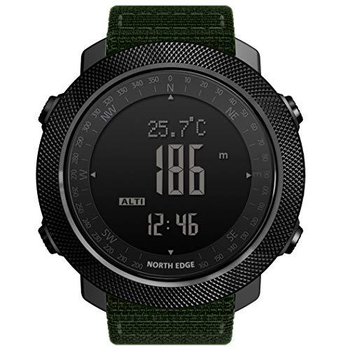 North Edge – Reloj militar para hombre, diseño japonés, automático, deportivo, nailon, 50 m, resistente al agua…
