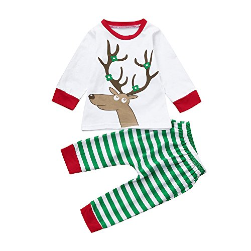 a4603b1112 2018 Clearance Kids Christmas Party Outfits Set Pajama