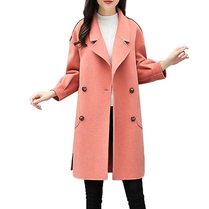 Linlink Gran promoción Chaqueta Larga de Cuero Mujeres Tabardo otoño Invierno Chaqueta Casual Outwear Cardigan Chaqueta Slim Coat Abrigo: Amazon.es: Ropa y ...