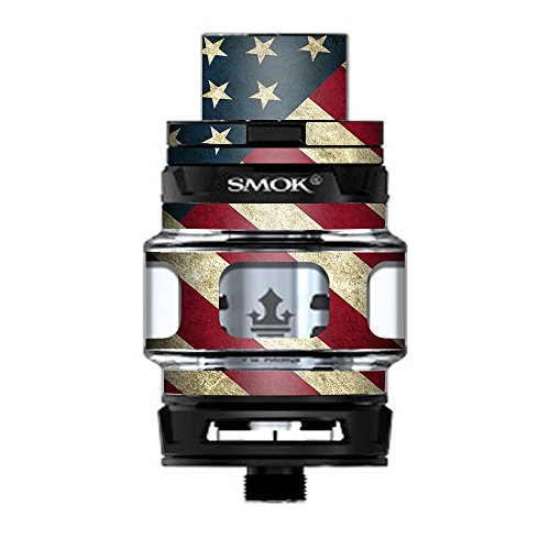 Skin Decal Vinyl Wrap for Smok TFV12 Prince Tank Vape Kit skins stickers cover/ America Flag Pattern