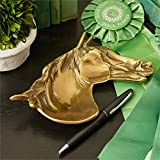 Antique Brass Derby Horse Head Dish Tray, great gift for horse lovers! 20 x 15cm by Tutti Decor