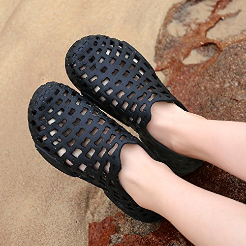 Outdoor Fast WAWEN Slip Lightweight Womens Drainage Breathable Non Black1 Garden Summer Beach Shoes Sandals Mens Dry nqTUA6xT