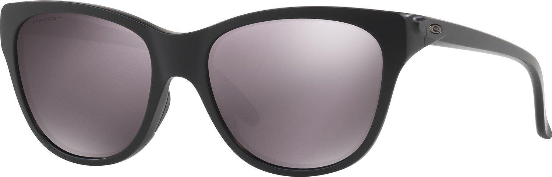Oakley Women's OO9357 Hold Out Cat Eye Sunglasses, Matte Black/Prizm Daily Polarized, 55 mm by Oakley