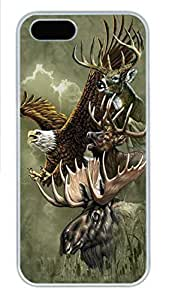 For Iphone 5C Phone Case Cover Northern Wildlife Collage PC Hard Plastic For Iphone 5C Phone Case Cover Whtie