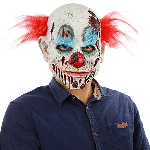 Halloween Novelty Horror Demon Joker Scary Decaying Clown Masks Adult Masquerade Cosplay Head -
