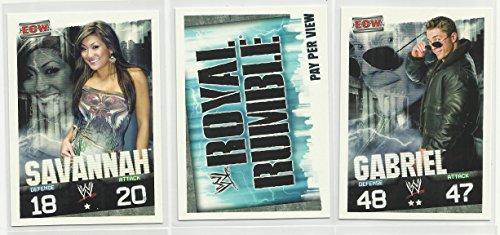 Wwe Royal Rumble 2009 - Three 2009 Topps WWE Slam Attax Evolution Trading Cards - Savannah - Royal Rumble - Gabriel