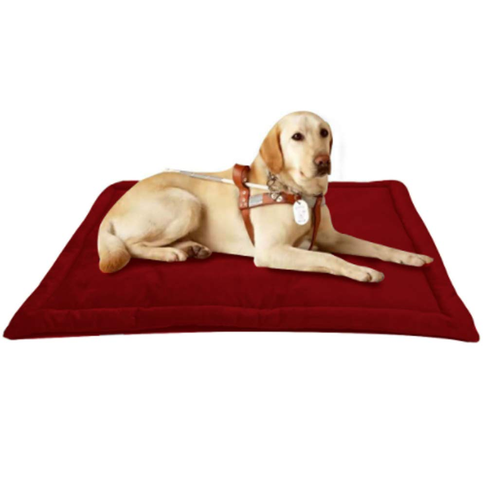 Red Medium red Medium Dog Bed Mat Crate with Non-Slip Keep Warm Foldable for Dog Bed Sleeping Pad