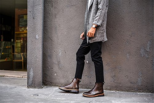 Marrone TMKOO uomo stivaletti Nuovi 47 uomo 38 cotone stivali da in cavaliere maschile tendenza scarpe da maschili stivali caldo Martin rqHwrn4f