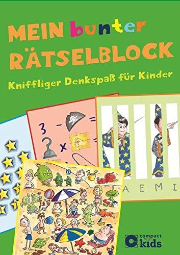 Mein bunter Rätselblock: Kniffliger Denkspaß für Kinder ab 8 Jahren