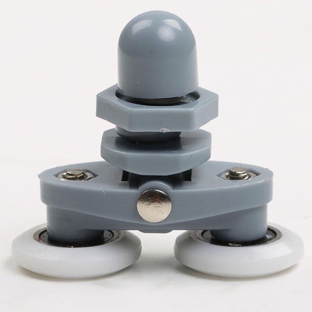 8 St/ück//Set Durchmesser 23//25 mm ABS-Kunststoff verstellbar doppelter Schwingrolle Duschkabine Schiebet/ür Hardware Schrankrolle