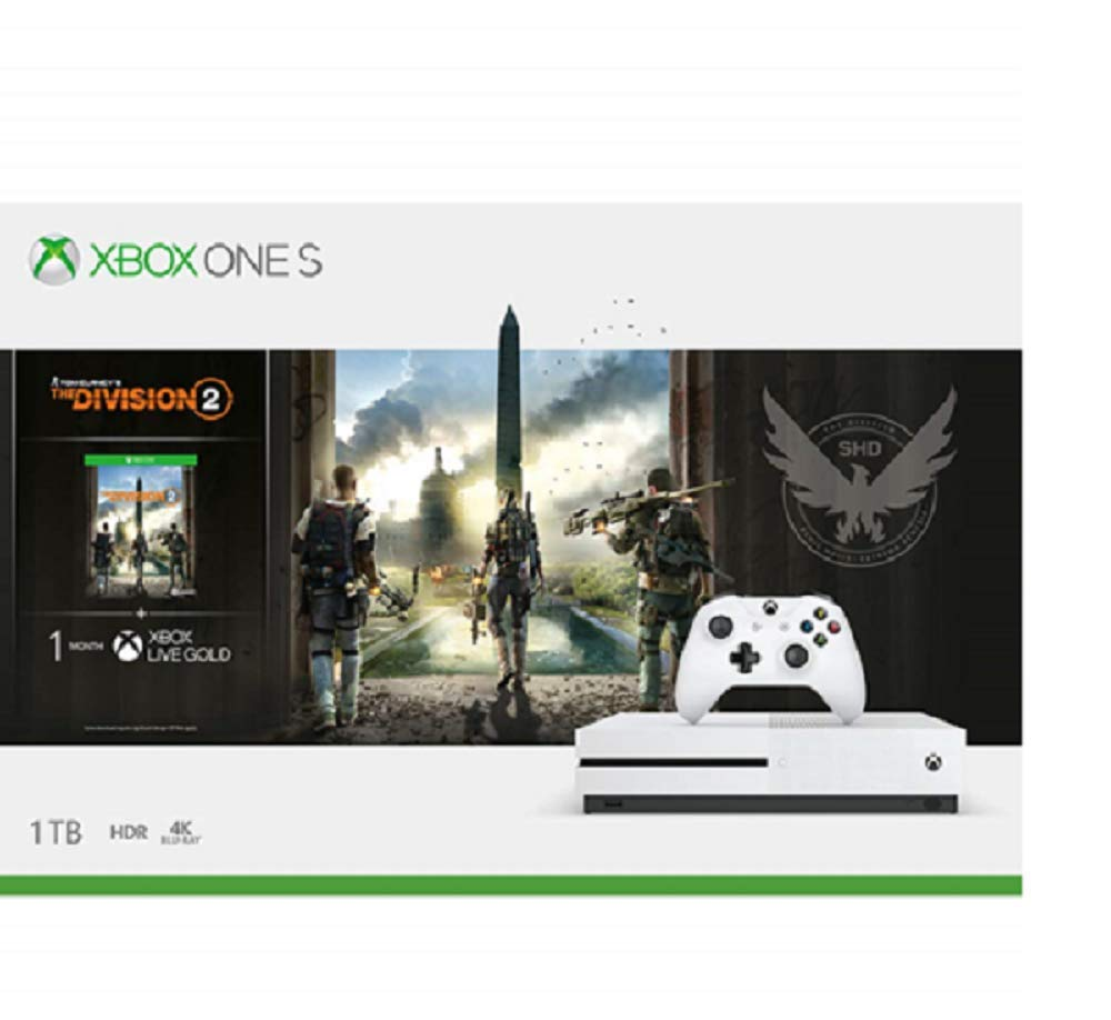 Microsoft Xbox One S 1TB Console - Tom Clancy's the Division 2 Bundle product image
