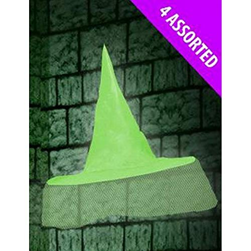 Home Collection Scream Machine Halloween Witch Hat (One Size) (Green) ()