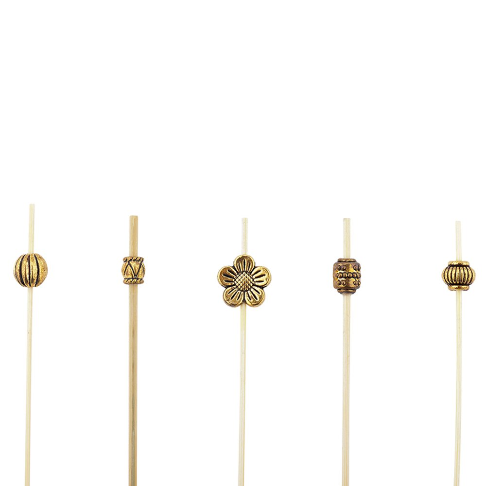 Luxury Gold Metal Beaded Picks - Skewers -  4'' - 1000ct Box - Restaurantware by Restaurantware (Image #1)