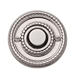 Baldwin 4850055 Beaded Bell Button, Lifetime Bright Nickel