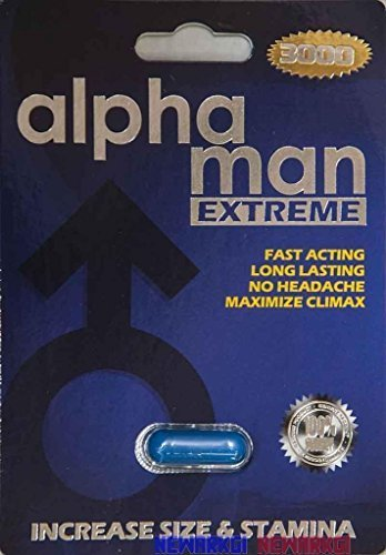 4 Packs Alpha Man Extreme 3000 Male Sexual Enhancement 7 Days by Alpha Industries