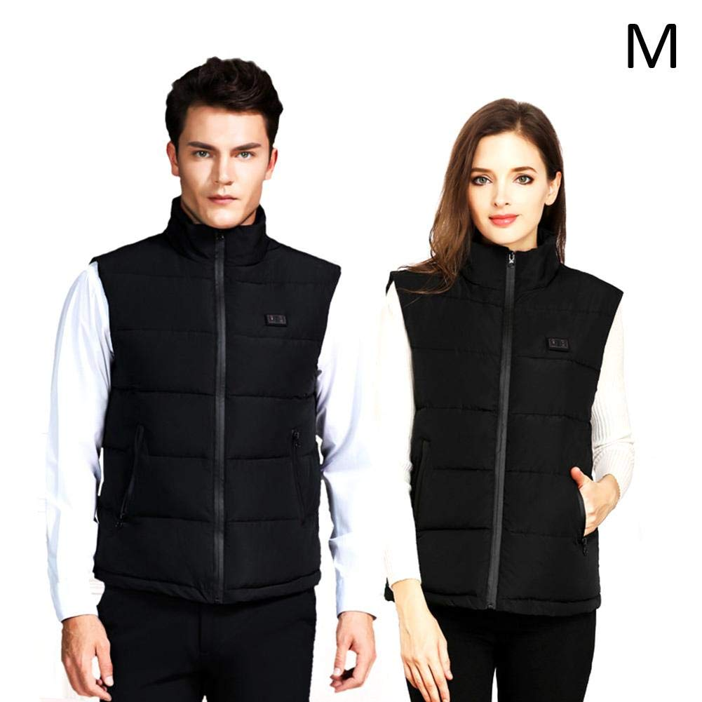 M Heated Vest Intelligent Thermostat Electric Heating Vest USB Rechargeable Heating Vest Warm Jacket Waist Predection Heated Clothing Women and Men for Hiking Skiing Camping Fishing