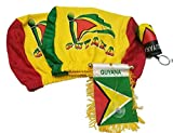 Cheap 4pcs Guyana Headrest Cover Flag Guyanese Mini Banner & Boxing Glove Keychain