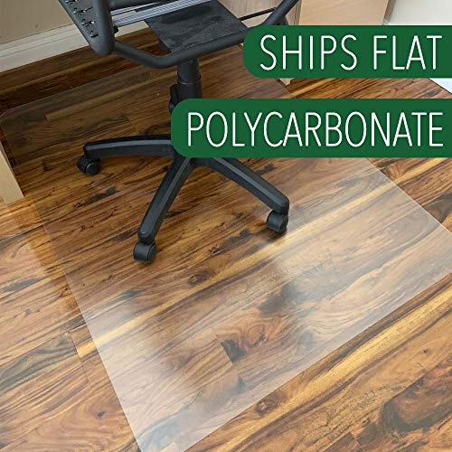 Polycarbonate Office Chair Mat for Hardwood Floor, Floor Mat for Office Chair(Rolling Chairs)-Desk Mat&Office Mat for Hardwood Floor-Sturdy&Durable, Immediately Flat When Taken Out of Box: 36