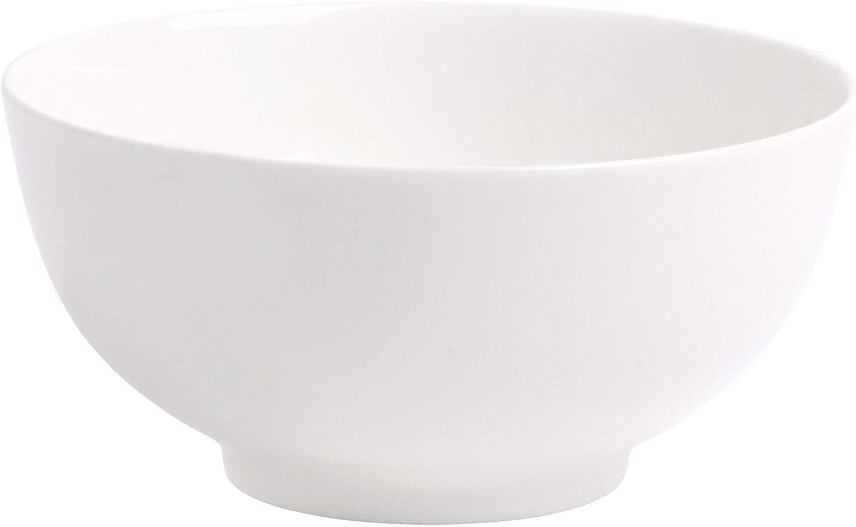 Home Essentials 15109 Bone Rim Cereal Bowl, 6-inch Diameter, White
