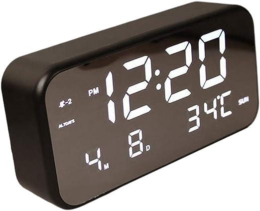 joyMerit Reloj Digital Electrónico Reloj Despertador De Mesa 12/24 ...
