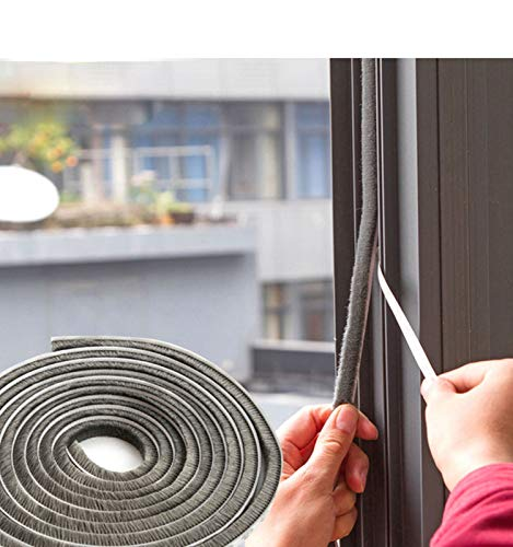 SRHOME 32.8 ft Self Adhesive Seal Strip Weatherstrip for Window,Door,Wardrobe,Car,Perfect to Windproof Shelter from The Wind,Dustproof,Pest Control,Soundproof Sound Deadener (0.35'' 0.6'') by SRHOME