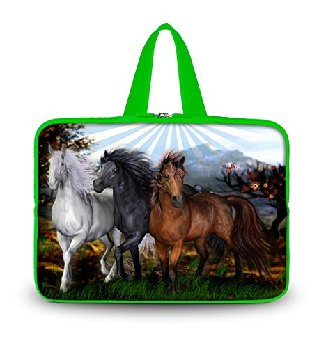 """Three Horses 11.6"""" 12"""" Neoprene Laptop Pure Color Sleeve Case Netbook Outside handle Bag Pouch Cover For 12"""" 11.6"""" inch Apple Macbook Air,Samsung Google 11.6"""" Chromebook,Acer Aspire S7/Acer C7 Chromebook,HP Dell Acer Thinkpad Sony IBM ASUS,Dell Inspiron 11z 1110,12.1"""" Apple iBOOK PC,ASUS Taichi21,Acer Aspire V5,HP EliteBook 2530p,DELL Latitude E6230 XT2 XPS Duo,Lenovo Ideapad"""