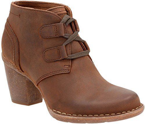 Leather Boots Oiled - CLARKS Women's Carleta Lyon Boot Brown Oiled Nubuck 8.5 M US