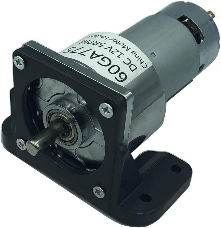 JSFQ Equipo eléctrico 60GA775 Potente Micro imán Permanente Esfuerzo de torsión del Motor del Engranaje de 24V DC de 12 voltios Baja Baja 5-400RPM Velocidad Velocidad Ajustable Invertida