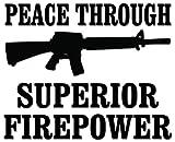 Best Stickeeze Assault Rifles - Peace Assault Rifle Firepower Vinyl Decal Sticker For Review