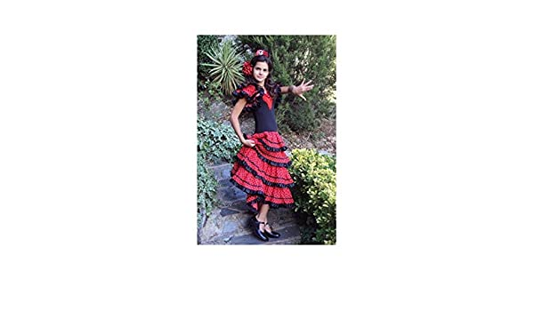 DISBACANAL Vestido andaluza niña - Único, S: Amazon.es ...