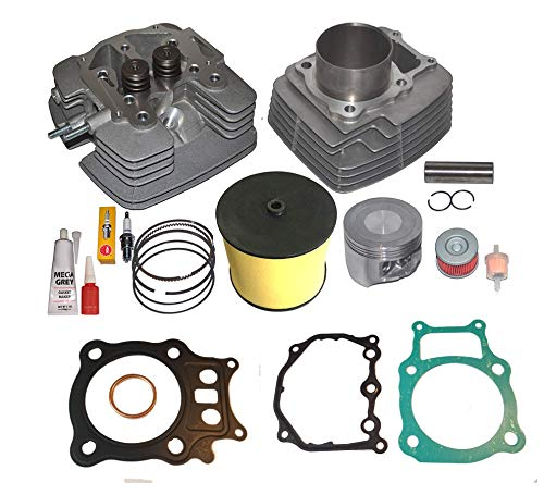 CYLINDER HEAD PISTON RINGS GASKET AIR FILTER KIT SET FITS HONDA RANCHER TRX350 TRX 350 2000-2006 POLISHED INTAKE AND EXHAUST PORT