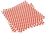 Pack of 1000, 12 x 12'' Red/White Checkerboard Food Grade Grease Resistant Tissue Sheet Made In USA