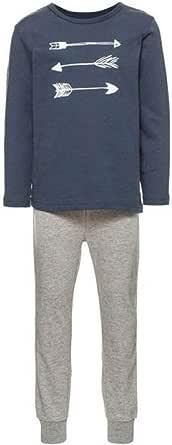 NAME IT Nmmnightset Grey Mel Noos Pijama para Bebés