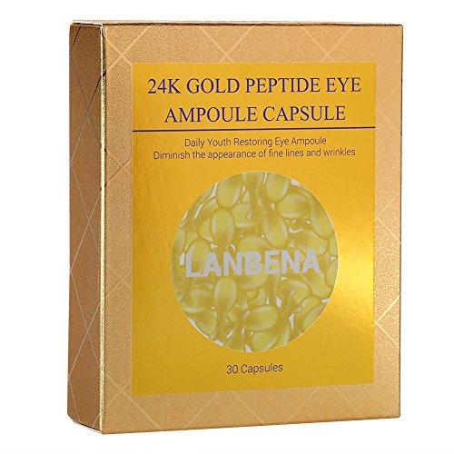 - Face capsules & Eye Capsules,24K Gold Peptide Restoring Eye Serum - Natural Repair and Rejuvenating Reduce Deep Wrinkles Anti-Aging and Restore Your Youthful Skin