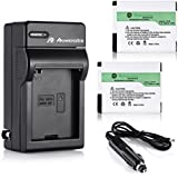 Powerextra 2 Pack High Capacity 1400mAh Rechargeable Replacement Battery and Charger for GoPro HD HERO 2 Camera and GoPro AHDBT-001, AHDBT-002