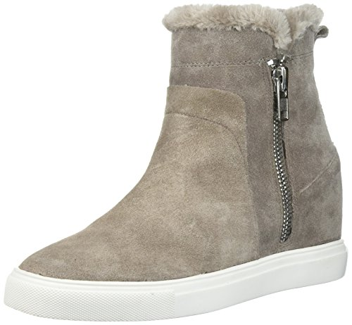 STEVEN by Steve Madden Women's Cacia Sneaker, Grey Suede, 6.5 Medium (Steven Suede Wedges)