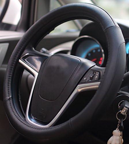 Mayco Bell Coprivolanti 38 Centimetri Comfort Durability Sicurezza Copertura del Volante dell Automobile Nero Grigio