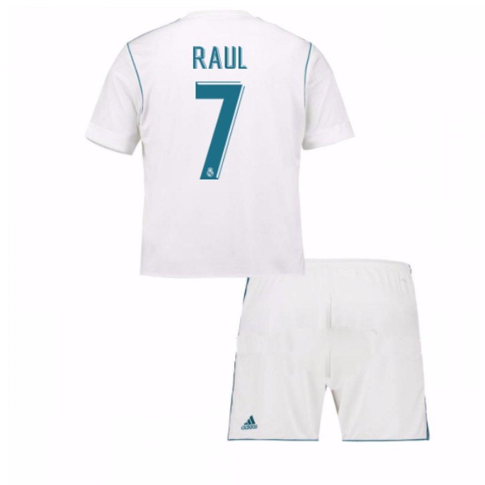 2017-18 Real Madrid Home Mini Kit (Raul 7) B077YNLL53White 3-4 Years