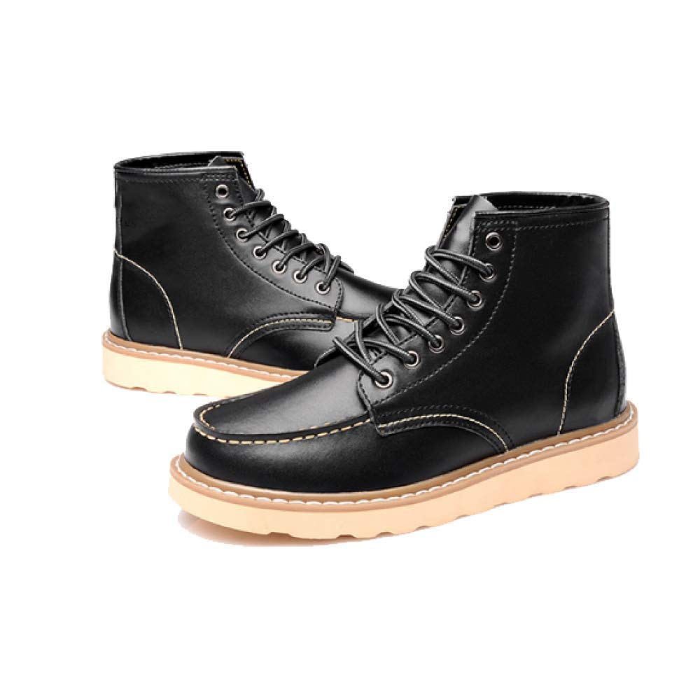 Martin Stiefel Schuhe Herren Booties High Top Schuhe Stiefel England Retro Warme Bequeme Wearable schwarz 382440