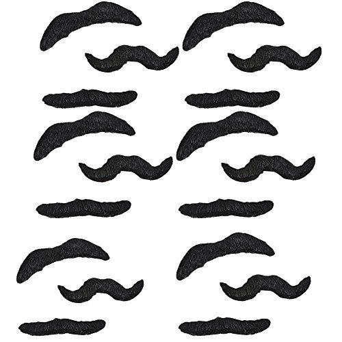 Rhode Island Novelty Adhesive Mustache Set pack of -