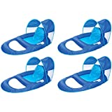 SwimWays Spring Float Recliner w/ Sun Canopy (4-Pack) | 13022