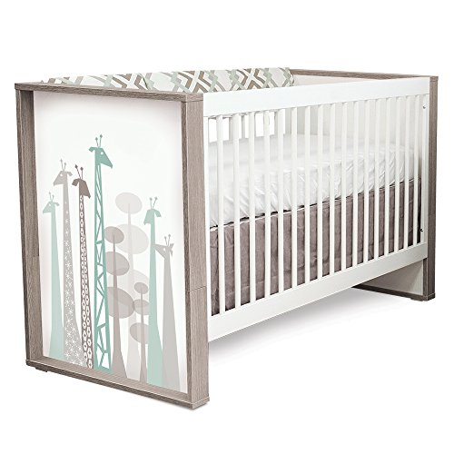 P'kolino Safari Dreams Convertible Crib (Grey) by P'Kolino