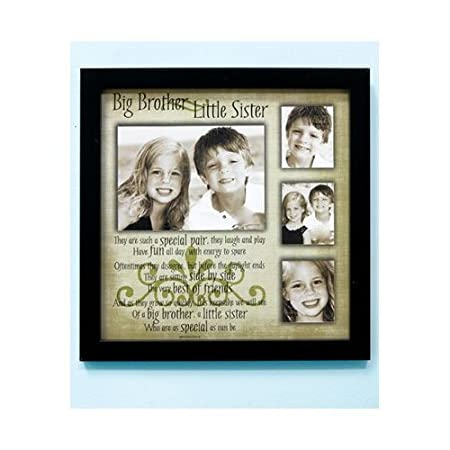 Big Brother Little Sister Sibling Wall Photograph Collage Frame ...