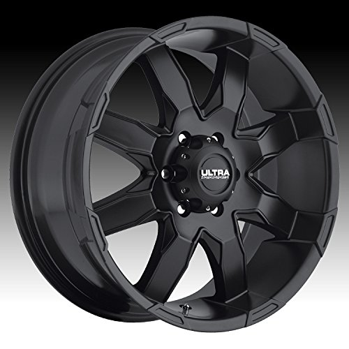 Ultra Phantom 18 Black Wheel / Rim 6x5.5 with a 25mm Offset and a 106 Hub Bore. Partnumber 225-8984SB+25 (2007 Chevy Tahoe Rims compare prices)