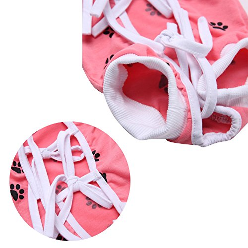 NEPPT After Surgery Wear Post Shirt Anxiety Dog Surgical Suit Wrap Body Pet Infection General Recovery Medical For Dogs(L, Pink) by NEPPT (Image #4)