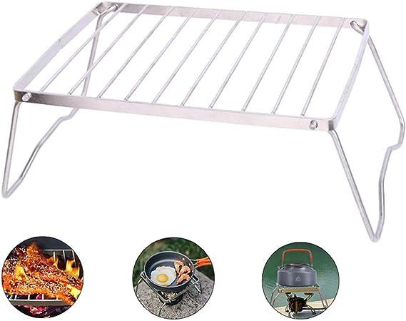 AoLigei soporte plegable para quemador, estufa de gas portátil, soporte para fuego abierto, ligero, para exteriores, pequeño, plegable, compacto, ...