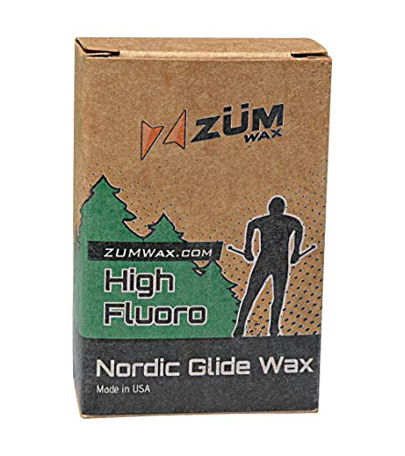 ZUMWax HIGH Fluoro Nordic/Cross-Country Racing Glide Wax - Universal - All Temperatures. Environmentally Friendly & Non-Toxic!